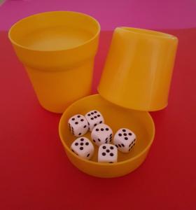 Produkte der GLZ-Innovation GmbH - Easy-DiceCup gelb