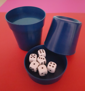 Produkte der GLZ-Innovation GmbH - Easy-DiceCup blau