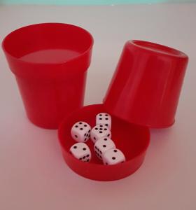 Produkte der GLZ-Innovation GmbH - Easy-DiceCup rot