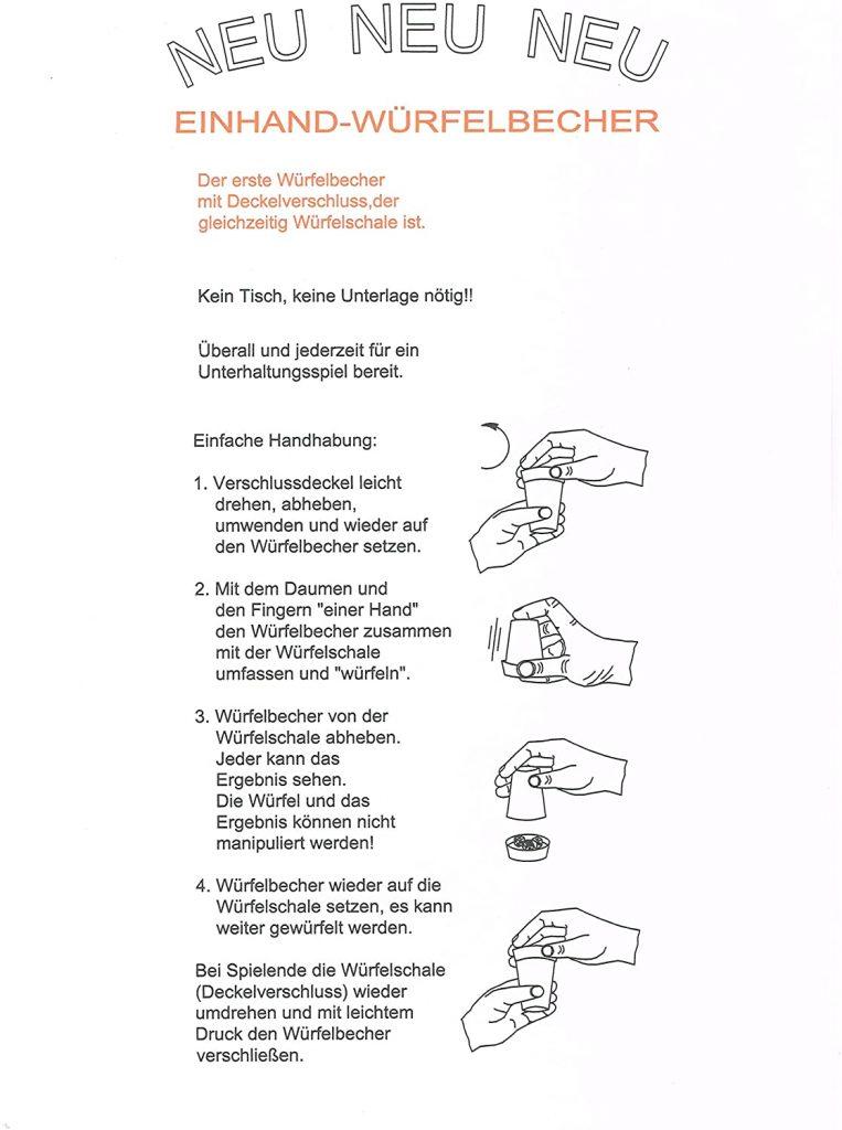 Produkte der GLZ-Innovation GmbH - Easy-DiceCup Beschreibung